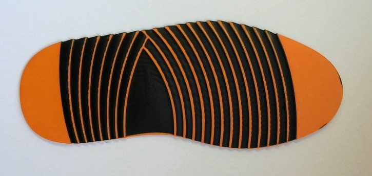 HEXA 4 GRIP  LIFESTYLE-SOHLE  GR. XXL ORANGE/SCHWARZ