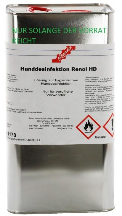 RENOL HD HAND DESINFEKTION 5 LTR BLECHKANNE