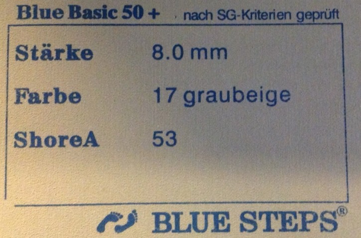 BLUE BASIC 50 SH. 0,54 QM FBE. 80   6 MM