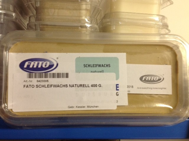 FATO SCHLEIFWACHS NATURELL 400 G.